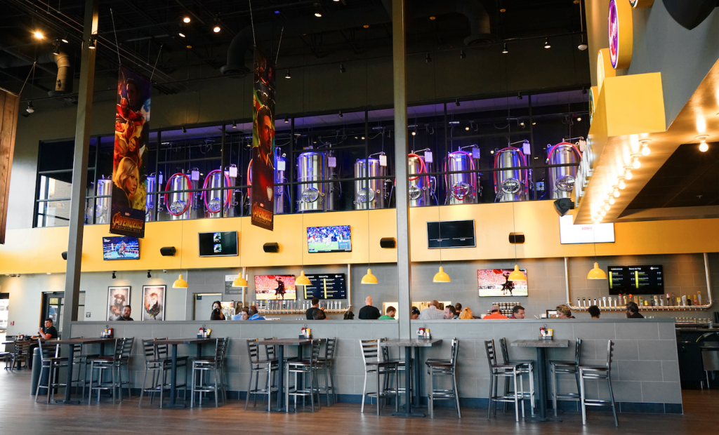 The new Flix lobby and bar design.